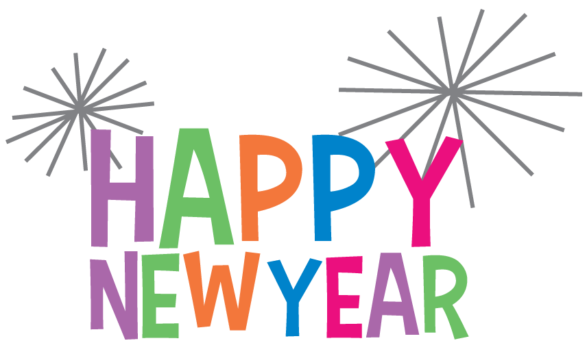 jpg library stock Happy colourful transparent png. Years clipart new year