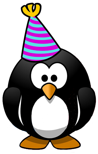 png stock New years penguin party. Year clipart 3 year