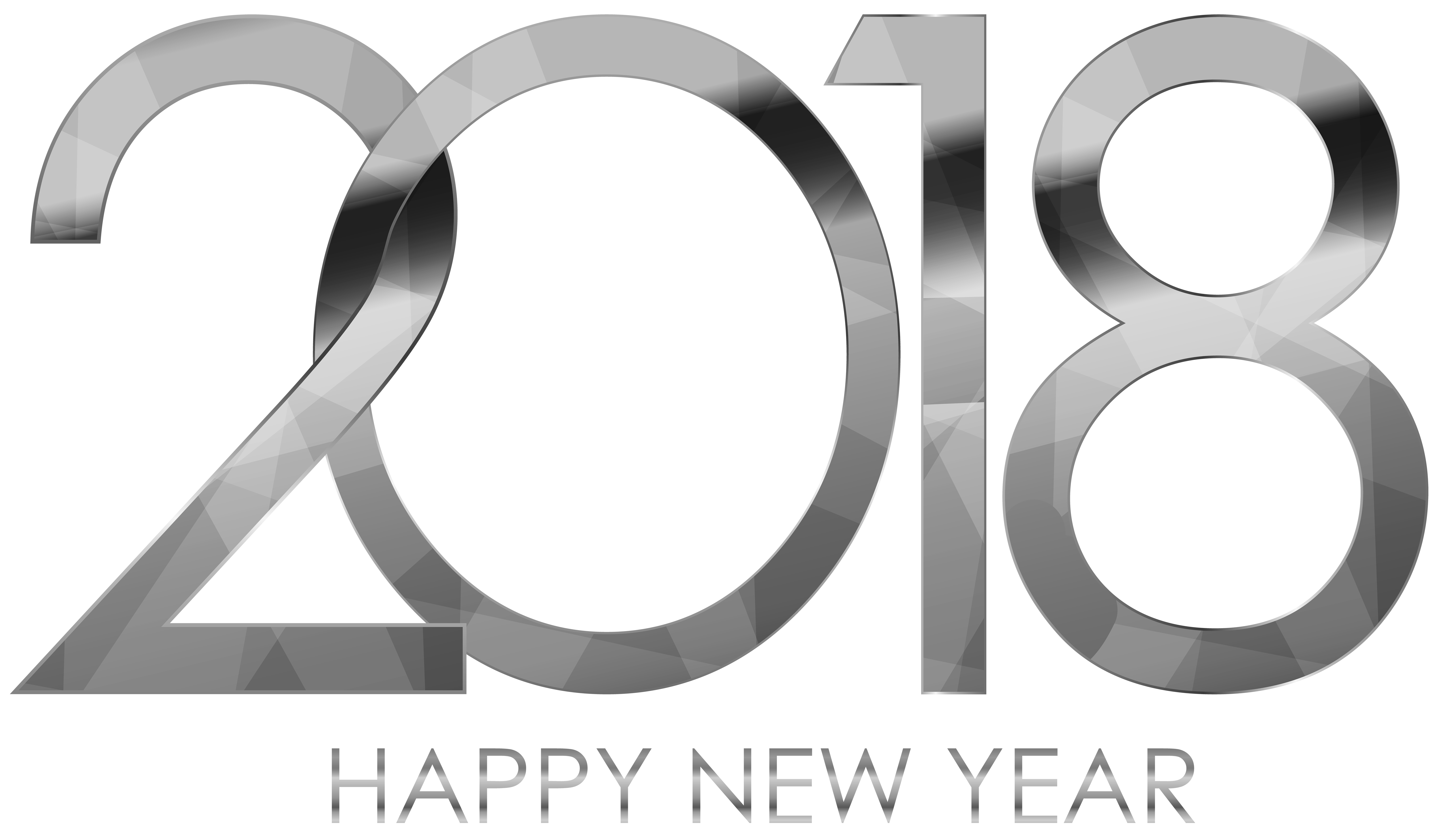 jpg black and white  happy new silver. Year clipart number
