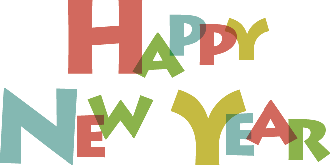 graphic Happy new wish you. Years clipart
