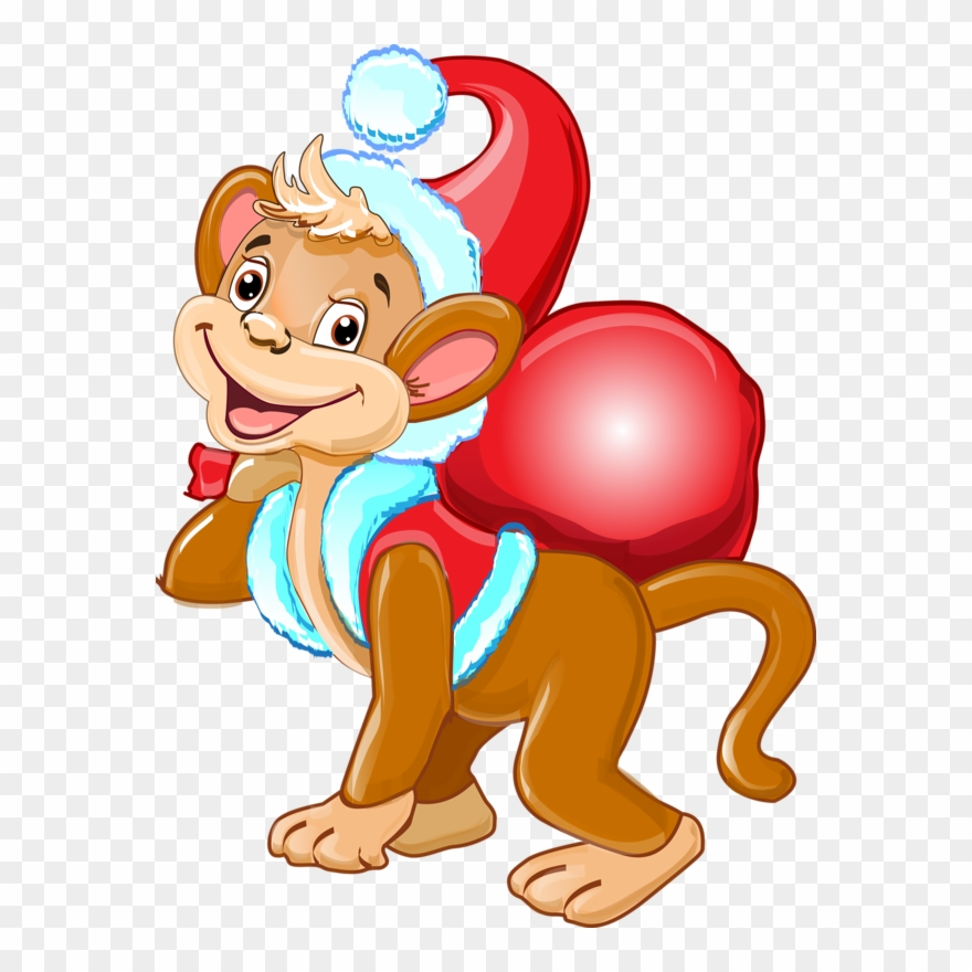 clip transparent The symbol of year. Years clipart monkey 2016