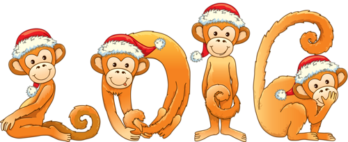 png download Years clipart monkey 2016. New year card with