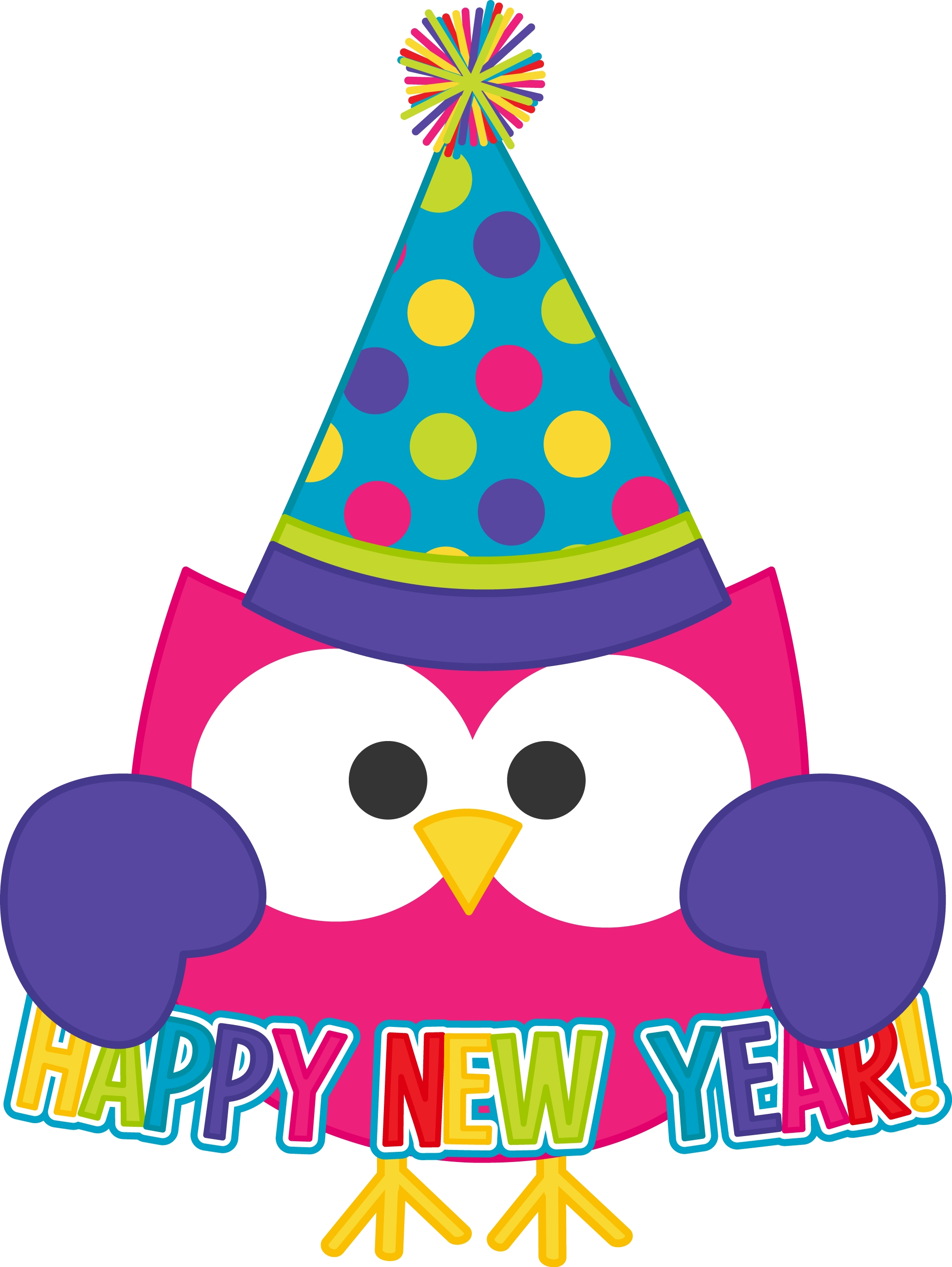 svg library  happy new year. Years clipart owl