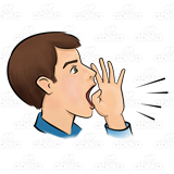 freeuse library Yell clipart. Man yelling with lines