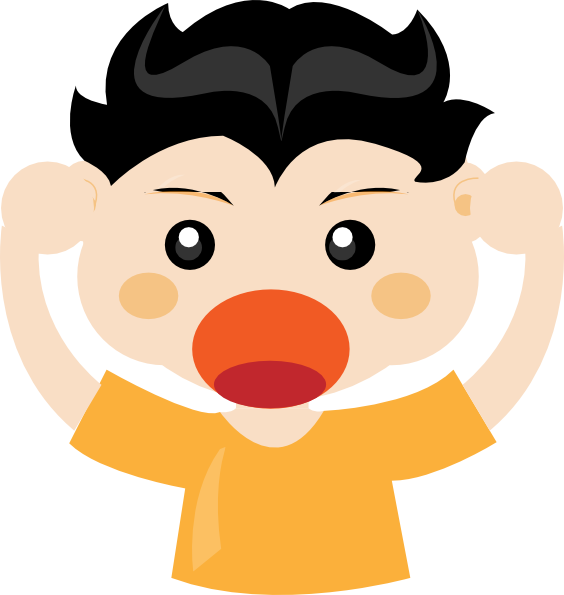 clip free stock Kid yelling clipart. Shouting panda free images