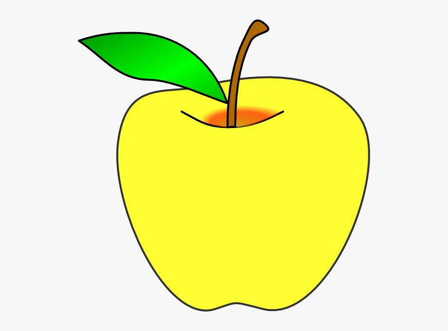 jpg Apple clip art transparent. Yellow apples clipart