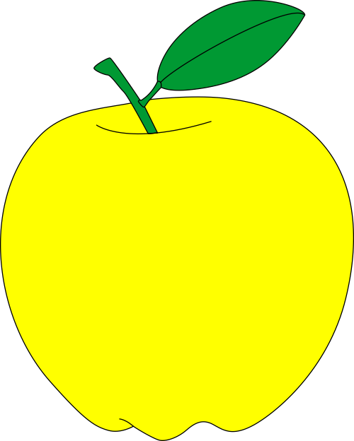 transparent stock Yellow apples clipart. Apple free vector printable.