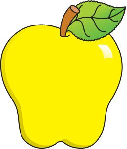 picture freeuse download Pin by victoria cordero. Yellow apples clipart.