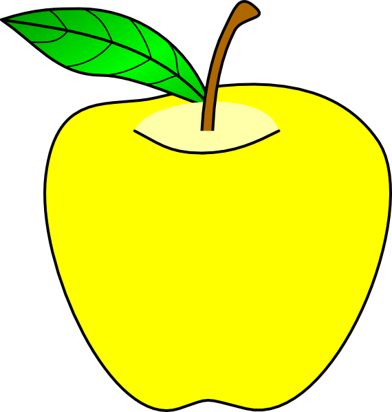 png transparent stock Yellow apples clipart. Apple clip art at.