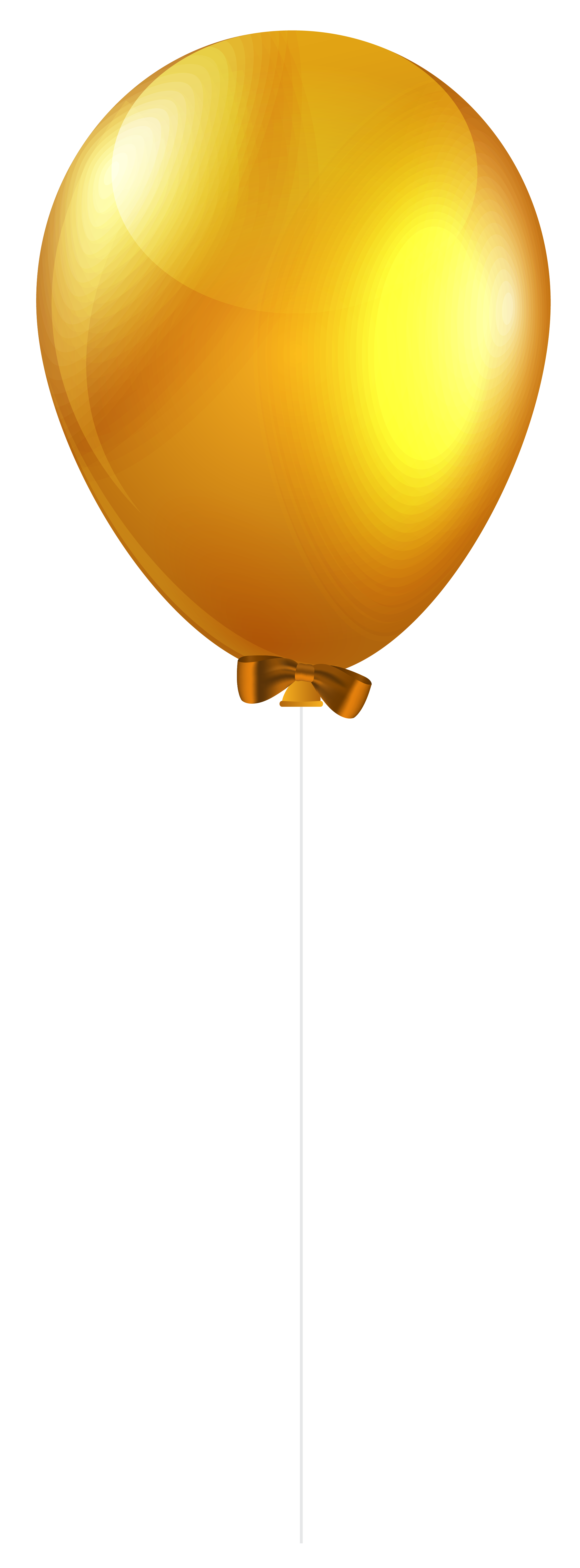 graphic library library Yellow Single Balloon PNG Clip Art Image