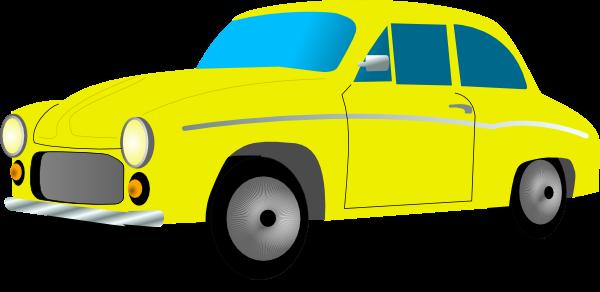 clip royalty free stock Free Retro Yellow Car Clip Art