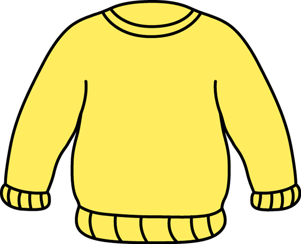 clip royalty free stock Sweater clip art image. Yellow clipart