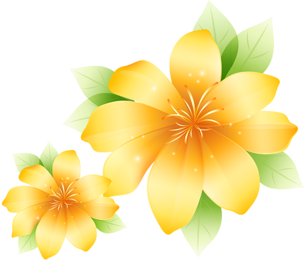 clip art freeuse download Large Yellow Flower Clipart