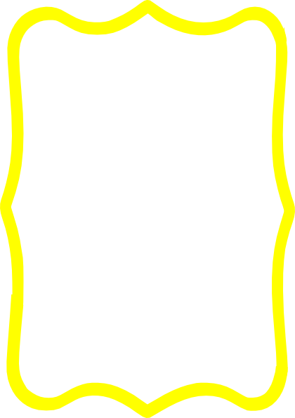 banner transparent stock Yellow Frame Clip Art at Clker