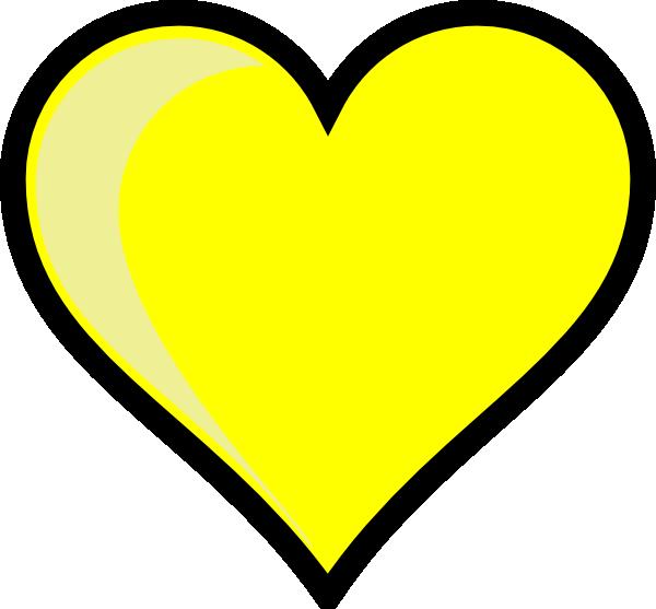vector transparent Yellow Heart Clip Art at Clker