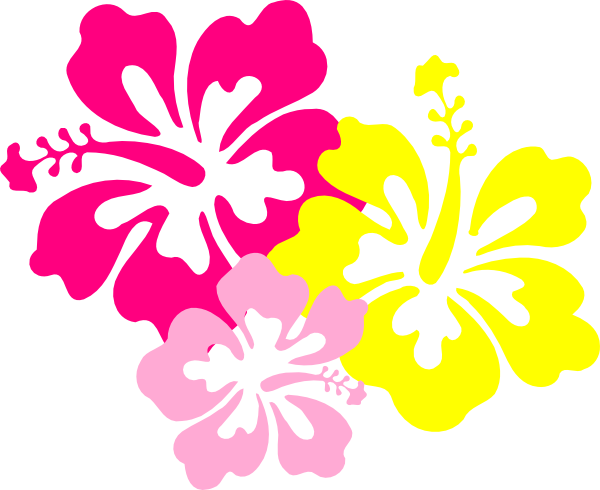 freeuse stock Hibiscus Pink Yellow Clip Art at Clker