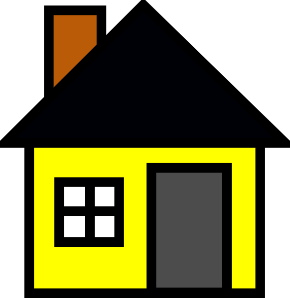 jpg stock Yellow House Clipart
