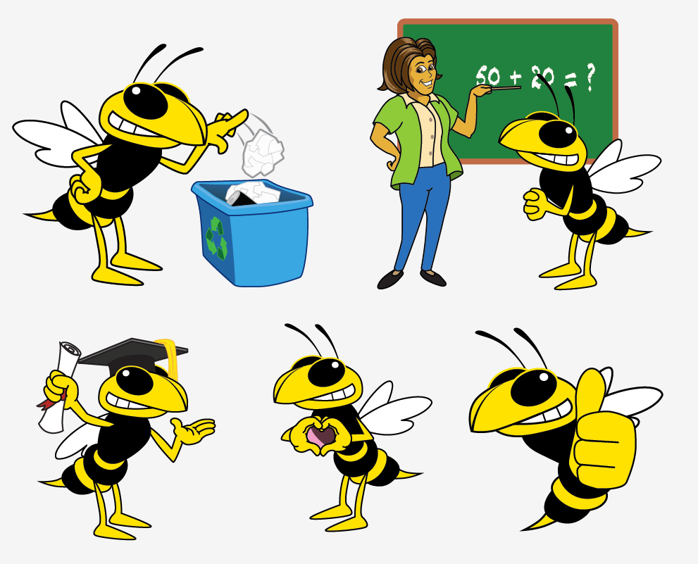 image freeuse Yellow jacket mascot clipart. Hornet yellowjacket junction