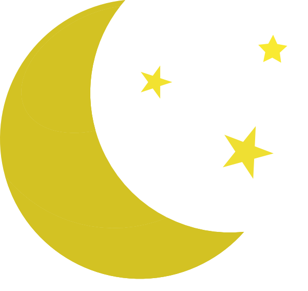 graphic transparent Yellow Moon Clipart