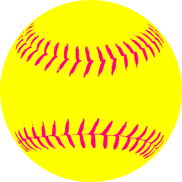 jpg freeuse library Yellow Softball Clip Art at Clker