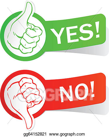 graphic freeuse Yes or no clipart. Vector illustration gg