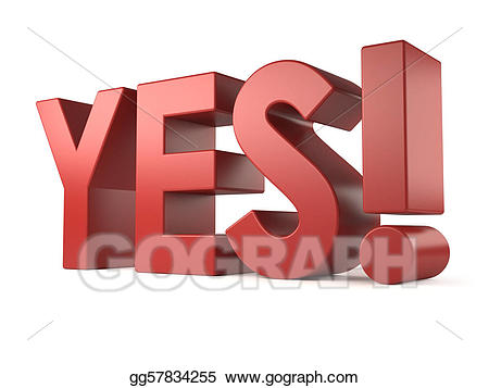 clip art library stock Stock illustration d word. Yes clipart big