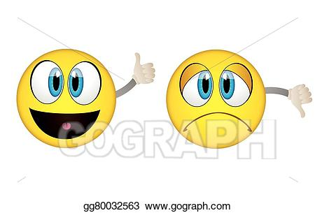 graphic free library Yes clipart emoticon. Vector illustration and no.