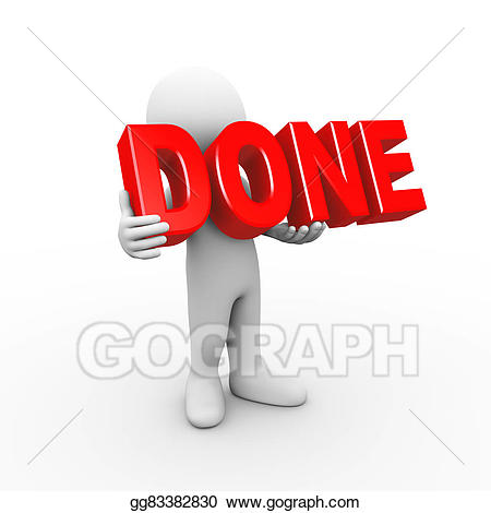 picture library download Stock illustration d man. Yes clipart finished.