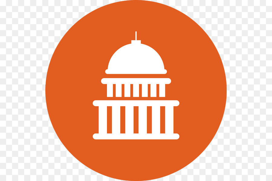 svg freeuse download Yes clipart government. Circle logo orange text