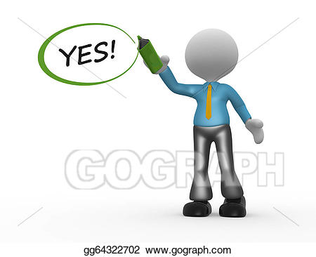 picture freeuse stock Stock illustration illustrations gg. Yes clipart man