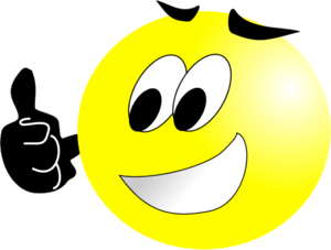 vector royalty free Picture thumbs smile . Yes clipart proud face