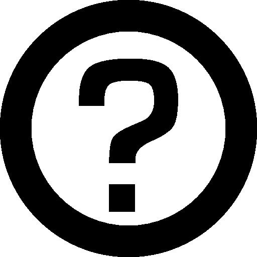 vector royalty free Circle interface faq symbol. Yes clipart question mark