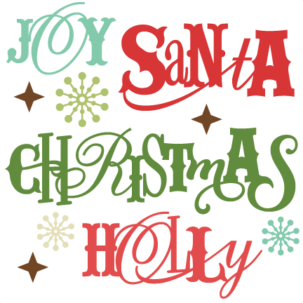 clip library Yes clipart sentiment. Christmas sentiments svg cutting