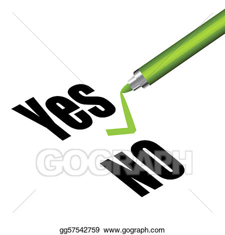 image royalty free Vector art and no. Yes clipart sign