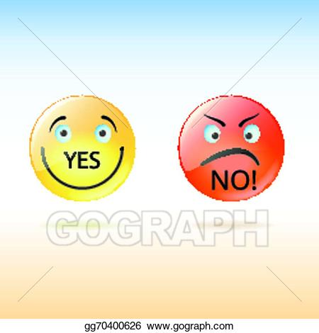 vector freeuse library Vector art two faces. Yes clipart smile