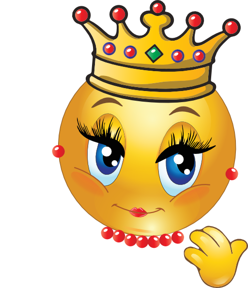 graphic royalty free library Vector emojis queen. Pin by madre mayra