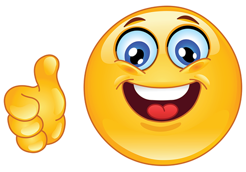 clip royalty free Yes clipart smilie face. Thumbs up smiley symbols