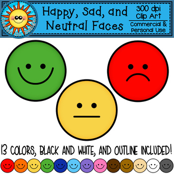 vector free library Happy sad and neutral. Yes clipart smiling face