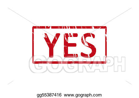 svg library stock Stock illustration rubber drawing. Yes clipart stamp