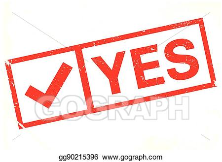 svg stock Vector illustration eps gg. Yes clipart stamp