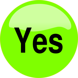 vector freeuse download Yes Button Clipart