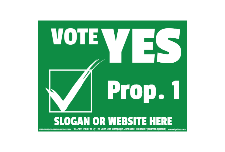 svg library Yes clipart vote. Political yard sign signitup