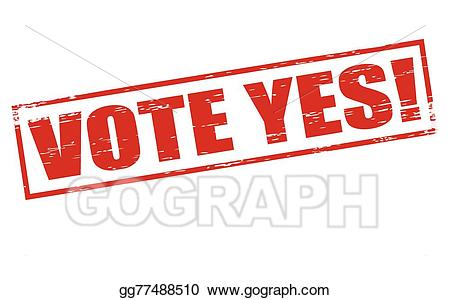 clipart transparent stock Yes clipart vote. Eps illustration vector gg