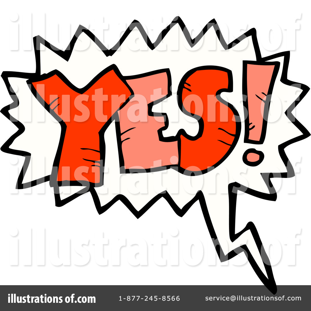 clip download Illustration by lineartestpilot . Yes clipart word