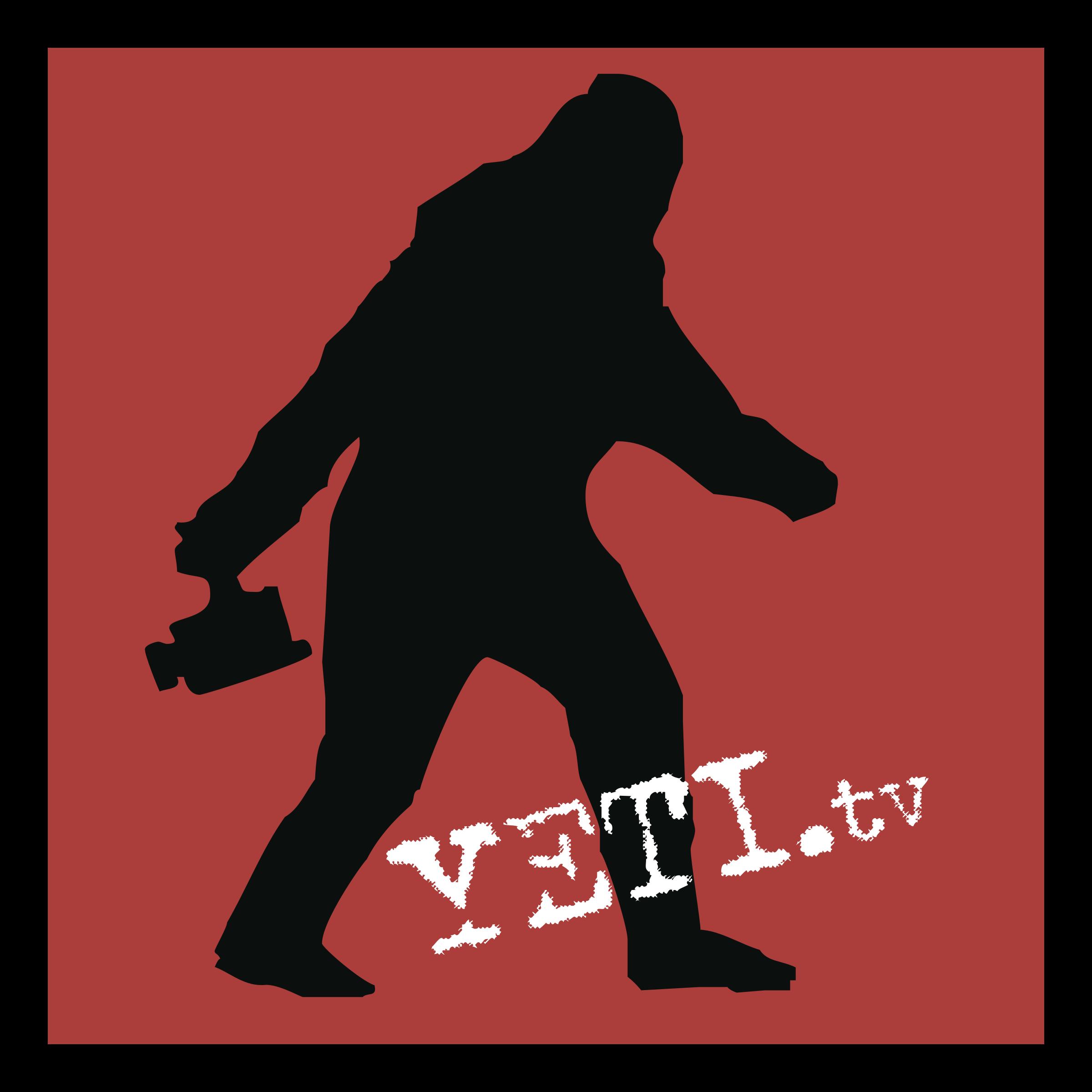 jpg black and white library YETI TV Logo PNG Transparent