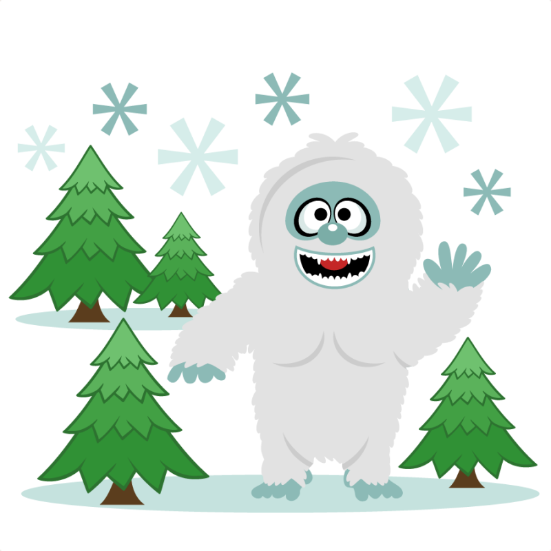 clip freeuse library Snow Yeti Snowman SVG scrapbook cut file cute clipart files for