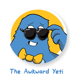 clipart black and white library The Awkward Yeti