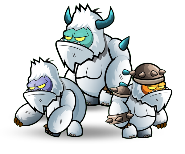 picture black and white download Monsters Yeti Character Set