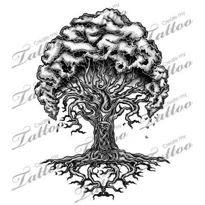vector freeuse stock Marketplace Tattoo Yggdrasil