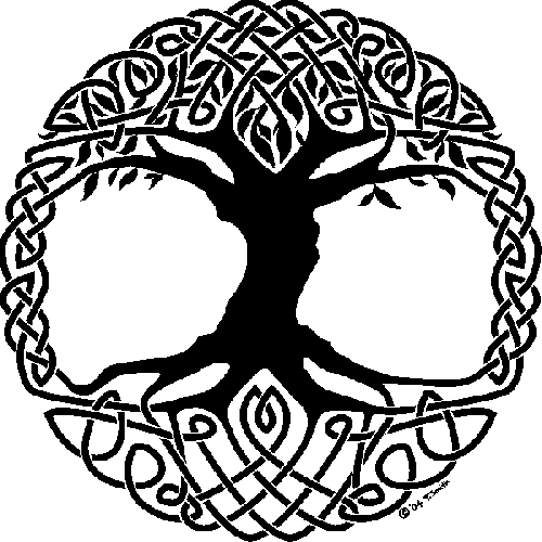 clip library stock yggdrasil drawing tattoo #109323328